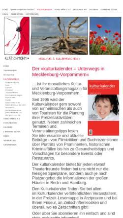 Vorschau der mobilen Webseite www.kulturkalender-mv.de, Kulturkalender Mecklenburg-Vorpommern