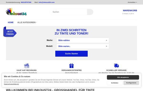 Vorschau von www.inkoust24.de, Handelsagentur Silhan GmbH