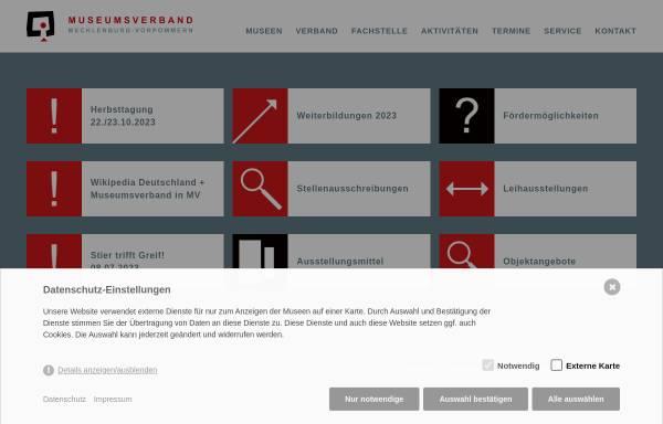 Vorschau von www.museumsverband-mv.de, Museumsverband in Mecklenburg-Vorpommern e.V.