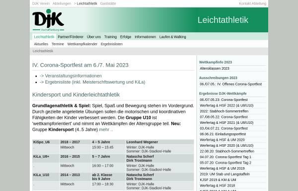 Vorschau von www.djk-aschaffenburg.de, DJK Aschaffenburg - Leichtathletik