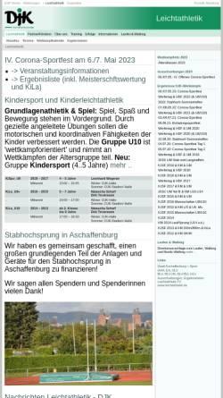 Vorschau der mobilen Webseite www.djk-aschaffenburg.de, DJK Aschaffenburg - Leichtathletik
