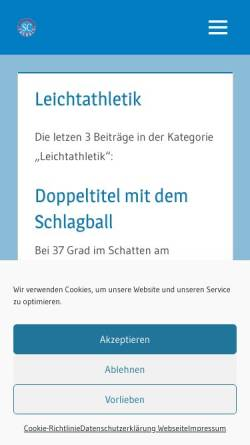 Vorschau der mobilen Webseite sc-trebbin.de, SC Trebbin - Abteilung Leichtathletik