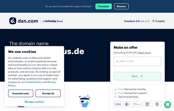 Vorschau von www.spo-ferienhaus.de, 54 Grad