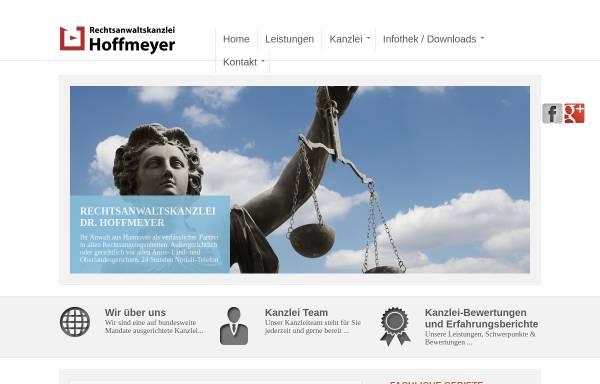 Vorschau von www.kanzlei-hoffmeyer.de, Rechtsanwaltskanzlei Hoffmeyer