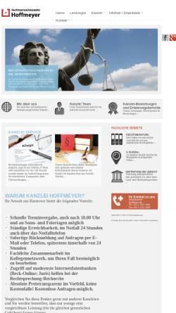 Vorschau der mobilen Webseite www.kanzlei-hoffmeyer.de, Rechtsanwaltskanzlei Hoffmeyer