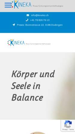 Vorschau der mobilen Webseite kineka.ch, Kinesiologie Kaufmann