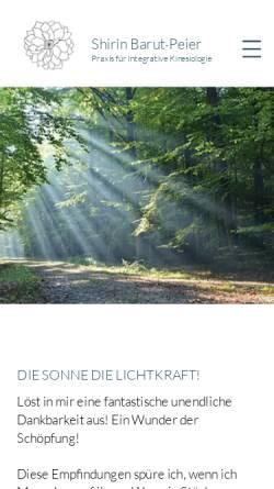 Vorschau der mobilen Webseite www.kinesiologie-barut.ch, Praxis für Integrative Kinesiologie Shirin Barut-Peier