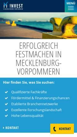 Vorschau der mobilen Webseite www.investguide-mv.de, Investguide MV