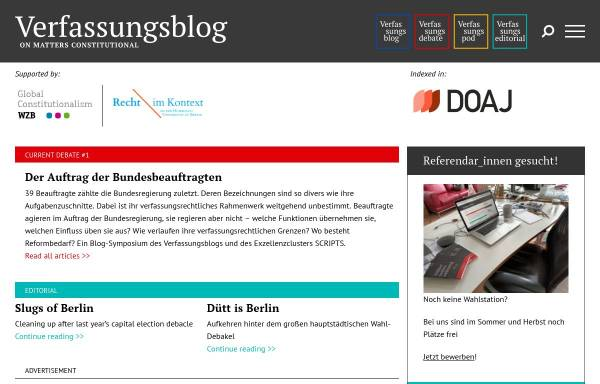 Vorschau von verfassungsblog.de, Verfassungsblog