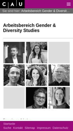 Vorschau der mobilen Webseite www.gendiv.uni-kiel.de, Gender Research Group