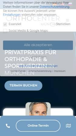 Vorschau der mobilen Webseite ortho-center.eu, OrthoCenter Professor Lill