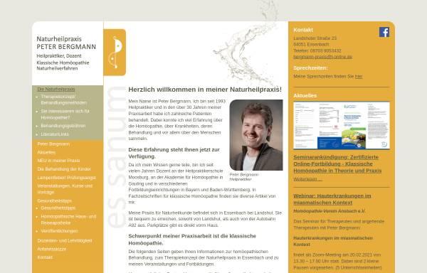 Vorschau von www.naturheilpraxis-bergmann.info, Naturheilpraxis Peter Bergmann