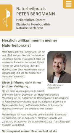 Vorschau der mobilen Webseite www.naturheilpraxis-bergmann.info, Naturheilpraxis Peter Bergmann