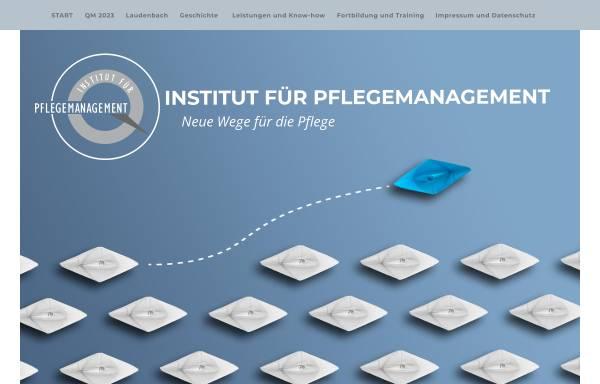 Vorschau von www.institut-pflegemanagement.de, Institut für Pflegemanagement - Inh. Alexander Laudenbach