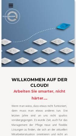 Vorschau der mobilen Webseite www.institut-pflegemanagement.de, Institut für Pflegemanagement - Inh. Alexander Laudenbach