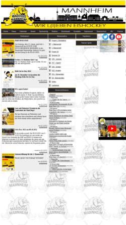 Vorschau der mobilen Webseite www.mad-dogs-mannheim.de, Mad Dogs Mannheim