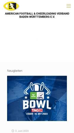 Vorschau der mobilen Webseite www.afv-bawue.de, AFV Baden-Württemberg
