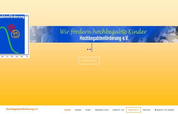 Vorschau von www.hbf-ev.de, Hochbegabtenförderung e.V.