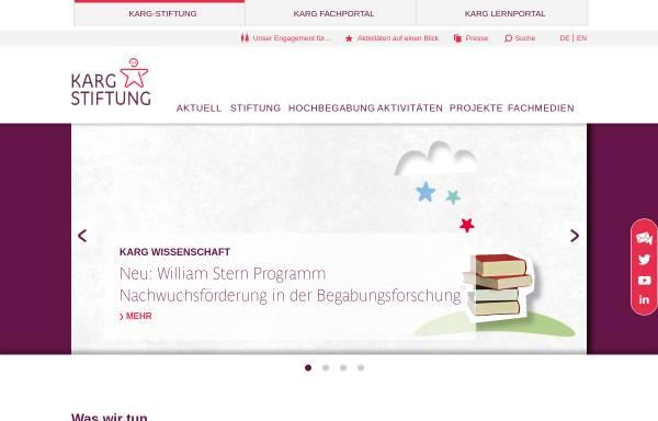 Vorschau von www.karg-stiftung.de, Karg-Stiftung