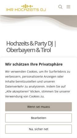 Vorschau der mobilen Webseite www.ihr-hochzeits-dj.eu, Hochzeits-DJ Hoasi