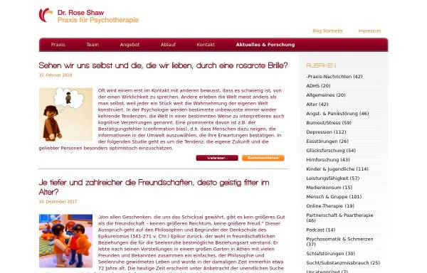 Vorschau von www.praxis-dr-shaw.de, Psychologie Aktuell