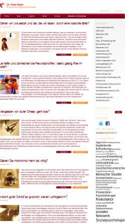 Vorschau der mobilen Webseite www.praxis-dr-shaw.de, Psychologie Aktuell