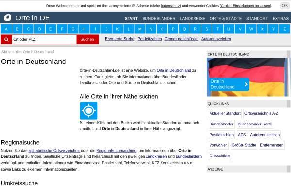 Vorschau von www.orte-in-deutschland.de, Orte in Deutschland