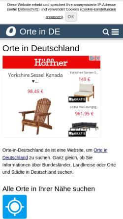 Vorschau der mobilen Webseite www.orte-in-deutschland.de, Orte in Deutschland