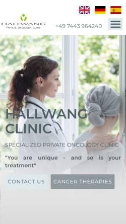 Vorschau der mobilen Webseite www.hallwang-clinic.com, Hallwang Clinic GmbH