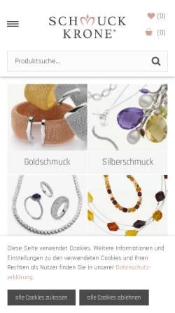 Vorschau der mobilen Webseite www.schmuck-krone.de, Schmuck Krone, Denys Mansarliysky