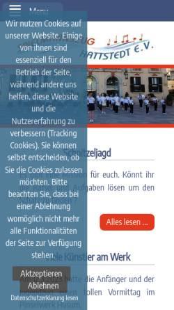 Vorschau der mobilen Webseite www.sz-hattstedt.de, Spielmannszug Hattstedt e.V.