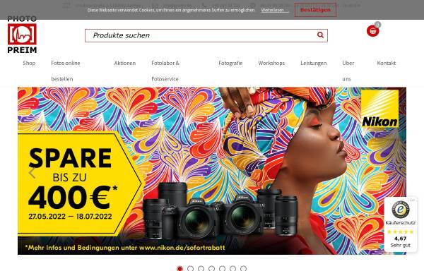 Vorschau von www.preim.de, Photo Preim GmbH