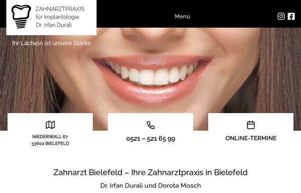 Vorschau von www.durali-mosch.de, Zahnarztpraxis am Landgericht Dr. Durali & Mosch