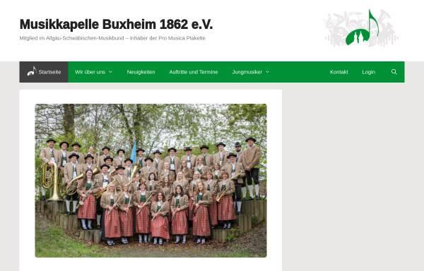 Vorschau von www.musikkapellebuxheim.de, Musikkapelle Buxheim 1862 e.V.