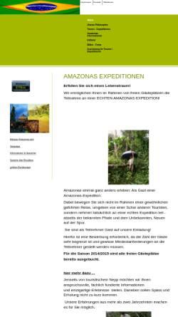 Vorschau der mobilen Webseite www.amazonasexpedition.eu, Amazonasexpeditionen