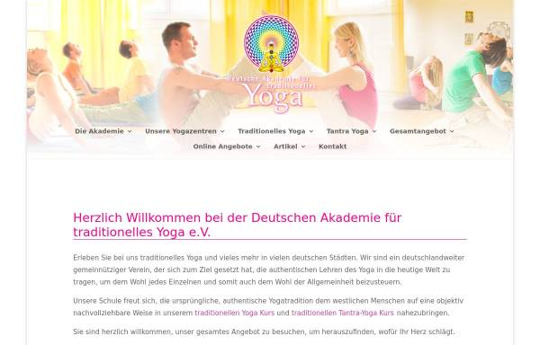 Vorschau von www.traditionelles-yoga.de, Deutsche Akademie für traditionelles Yoga e.V.
