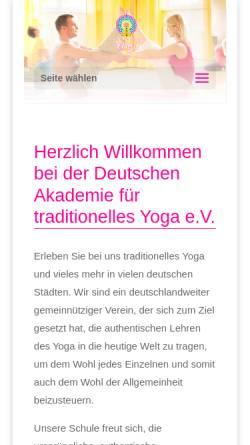 Vorschau der mobilen Webseite www.traditionelles-yoga.de, Deutsche Akademie für traditionelles Yoga e.V.