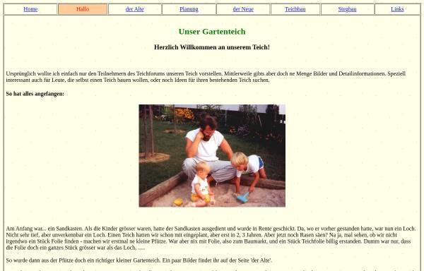 Vorschau von www.helmut-wick.de, Unser Gartenteich, Helmut Wick