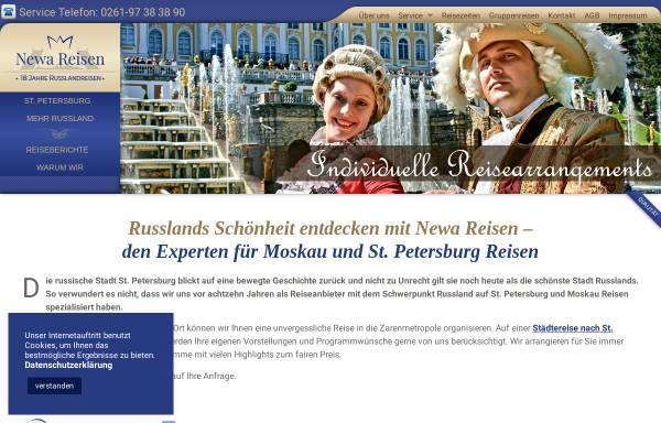 Vorschau von www.st-petersburg-reisen.com, Newa Reisen