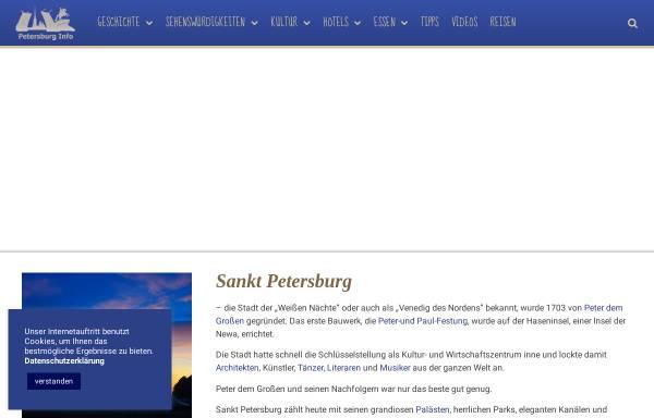 Vorschau von www.petersburg-info.de, St. Petersburg Reiseführer