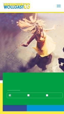 Vorschau der mobilen Webseite www.tanzschule-wollgast.de, Tanzschule Wollgast