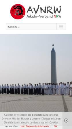 Vorschau der mobilen Webseite www.aikido-avnrw.de, Aikido Verband Nordrhein-Westfahlen (NRW)
