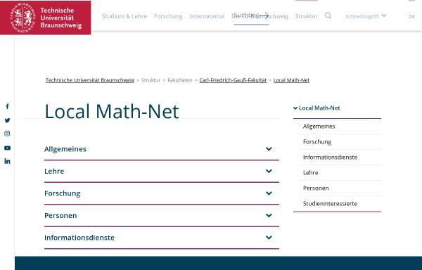 Vorschau von www.tu-braunschweig.de, Institute der Mathematik der Technische Universität Braunschweig