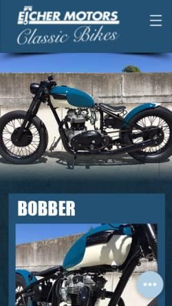Vorschau der mobilen Webseite www.eicher-classic.ch, Eicher Motors Classic Bikes