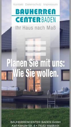 Vorschau der mobilen Webseite bauherrencenter-baden.com, Bauherrencenter Baden GmbH