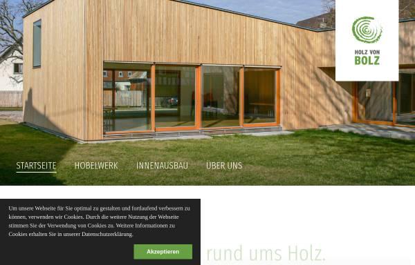 Vorschau von www.holz-von-bolz.de, Holz von Bolz - Hobelwerk - Schreinerei