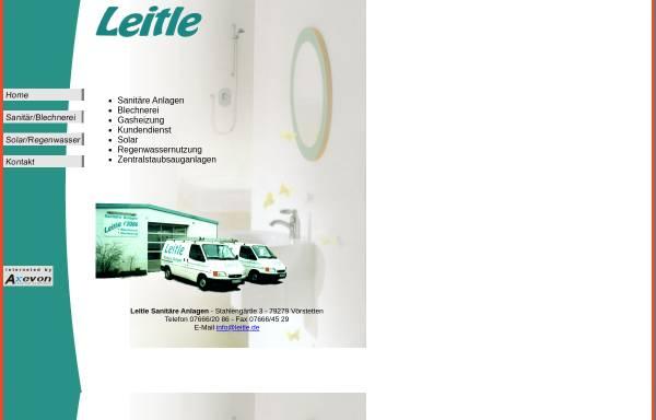 Vorschau von www.leitle.de, Leitle - Sanitäre Anlagen