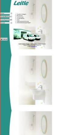 Vorschau der mobilen Webseite www.leitle.de, Leitle - Sanitäre Anlagen