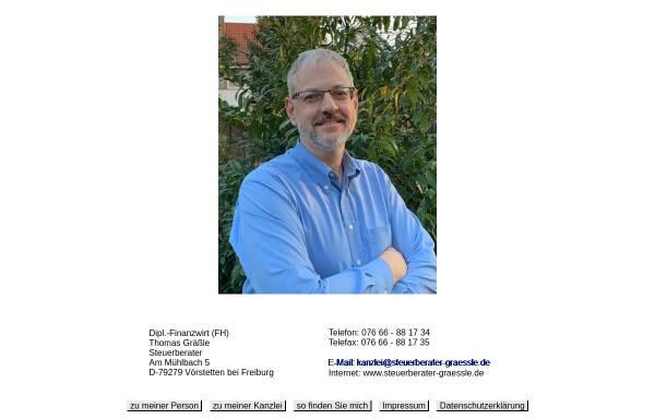 Vorschau von www.steuerberater-graessle.de, Steuerberater Thomas Gräßle