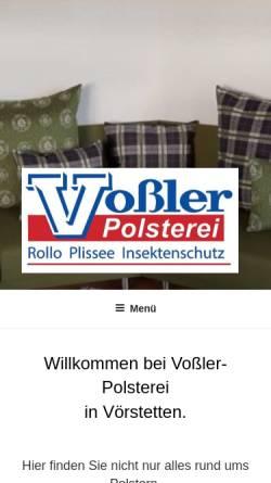 Vorschau der mobilen Webseite www.vossler-raumkultur.de, Vossler Raumkultur